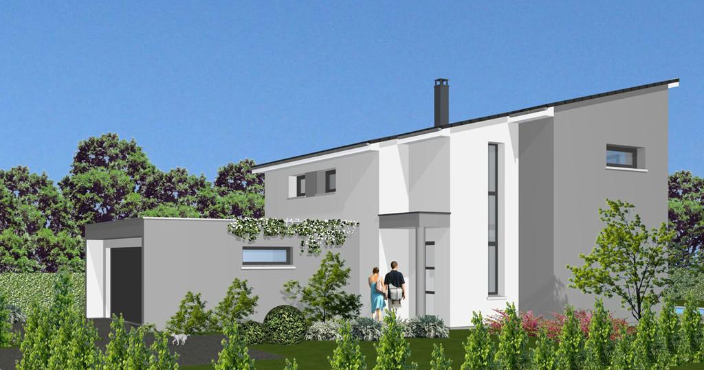 Maisons sur plan mod le archi construire steinbrunn for Modele maison 160m2