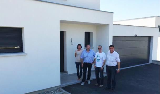 Réception d'une maison construite par EUROMAISONS.